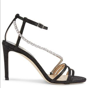 Jimmy Choo Thaia 85 metallic Heeled Sandals